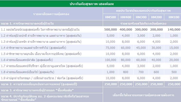 ประกันภัยสุขภาพ เฮลท์เมท (HealthMate) – ประกันภัยไทยวิวัฒน์